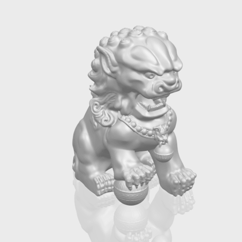 04_TDA0500_Chinese_LionA00-1.png Download free STL file Chinese Lion • 3D printing object, GeorgesNikkei