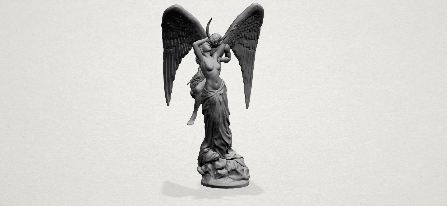 Angel and devil - A15.png Download free 3DS file Angel and devil • 3D print template, GeorgesNikkei