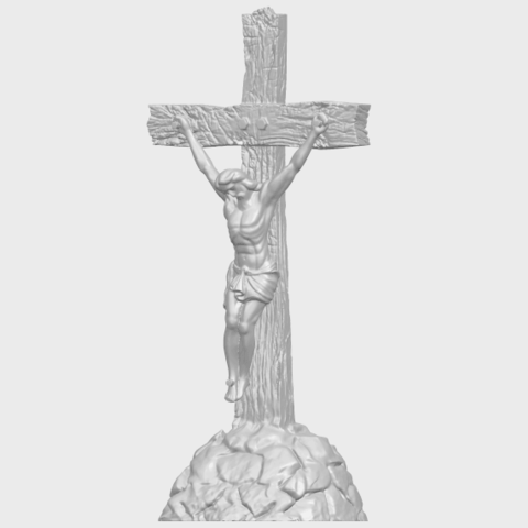 12_TDA0229_Jesus_with_cross_ii_88mmA02.png Download free STL file Jesus with cross 02 • Template to 3D print, GeorgesNikkei