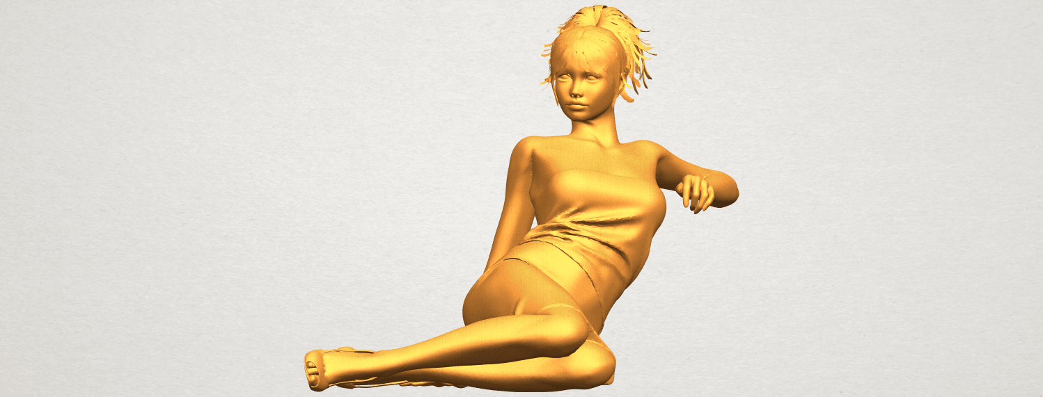 A01.png Download free STL file Naked Girl F05 • 3D printer object, GeorgesNikkei