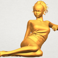 Download free 3D printing templates Naked Girl F05, GeorgesNikkei