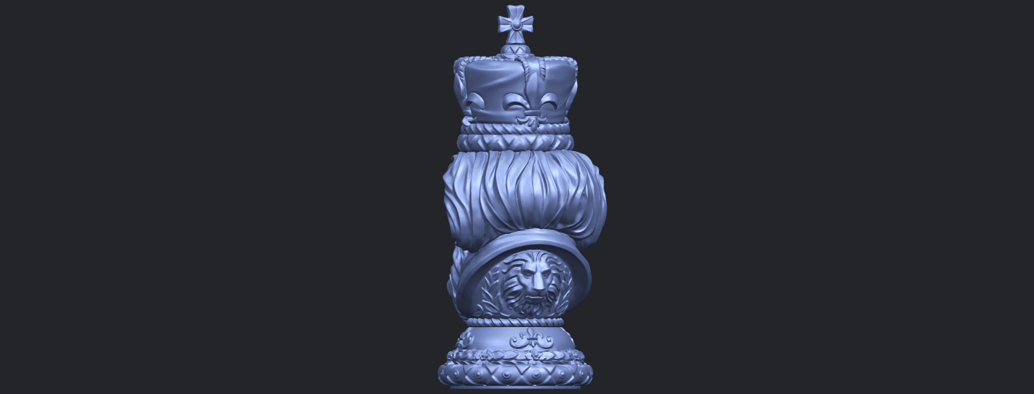 06_TDA0254_Chess-The_KingB06.png Download free STL file Chess-The King • 3D printer model, GeorgesNikkei