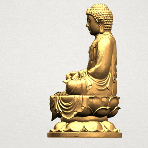 Gautama Buddha (ii) A03.png Download free STL file Gautama Buddha 02 • 3D print template, GeorgesNikkei
