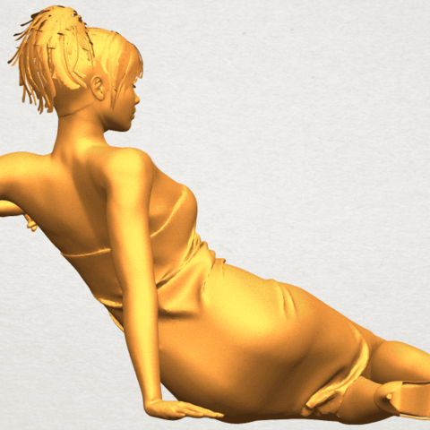 A08.png Download free STL file Naked Girl F05 • 3D printer object, GeorgesNikkei