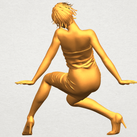 A06.png Download free STL file Naked Girl G10 • 3D printable template, GeorgesNikkei