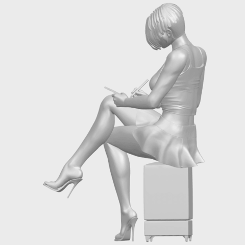 19_TDA0471_Beautiful_Girl_05_A04.png Download free STL file Beautiful Girl 05 • 3D printing template, GeorgesNikkei
