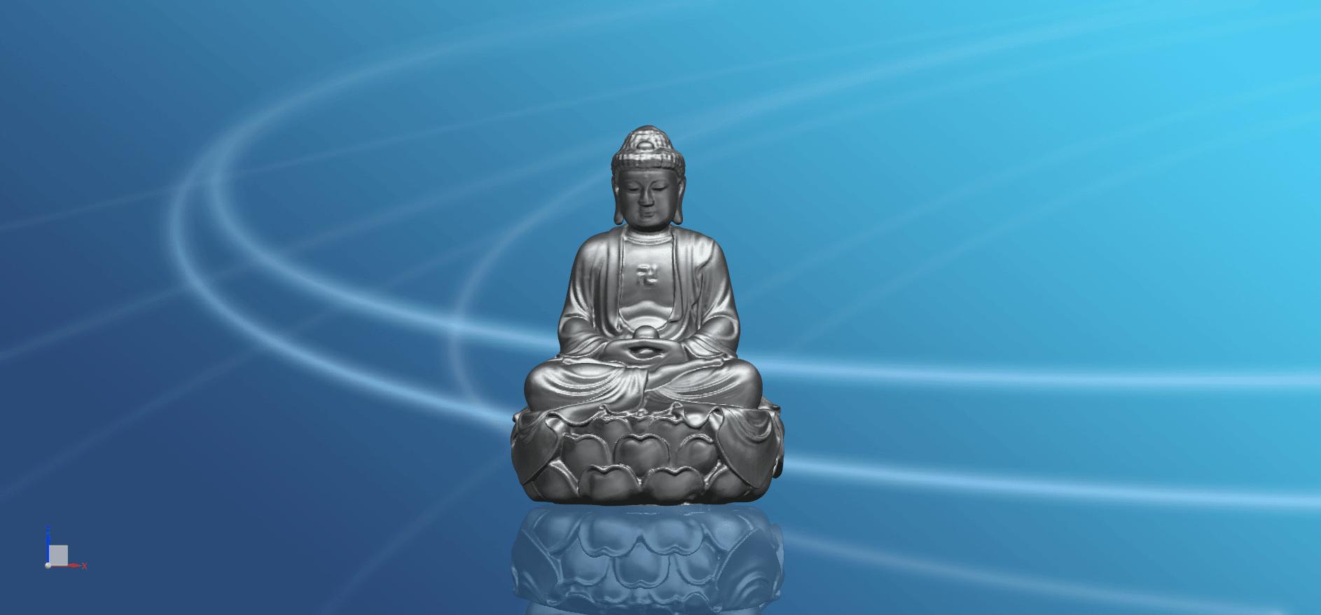 Gautama Buddha -01.png Télécharger fichier STL gratuit Gautama Bouddha 01 • Plan pour impression 3D, GeorgesNikkei