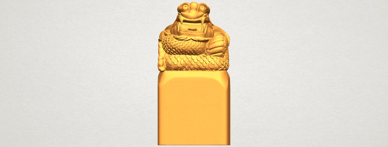 A09.png Télécharger fichier STL gratuit Timbre Dragon 01 • Objet à imprimer en 3D, GeorgesNikkei