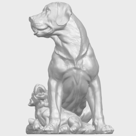 02_TDA0526_Dog_and_PuppyA05.png Download free STL file Dog and Puppy 01 • Model to 3D print, GeorgesNikkei