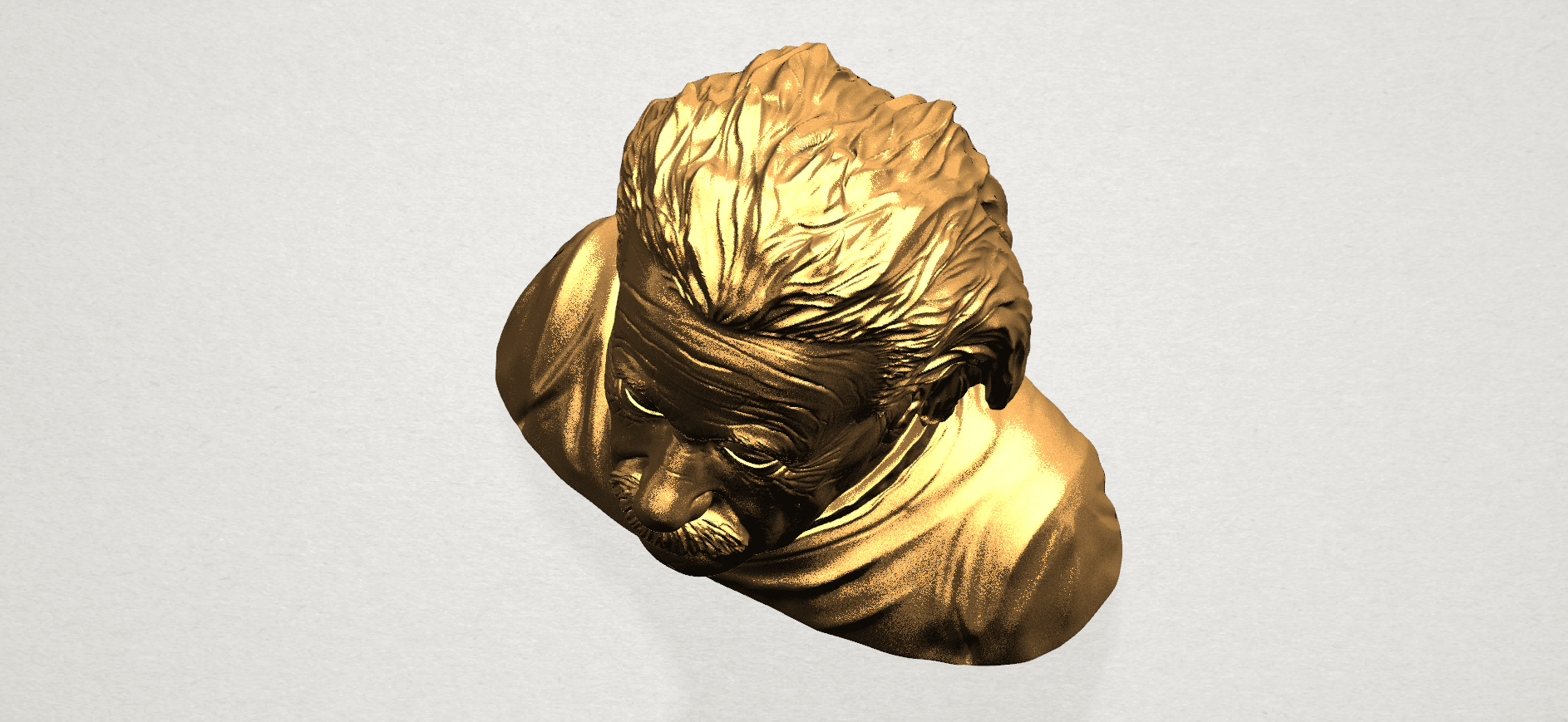 Einstein A08.png Download free STL file Einstein • 3D printer template, GeorgesNikkei