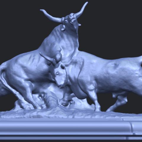 15_Bull_iii_74mm-B07.png Télécharger fichier STL gratuit Taureau 03 • Plan imprimable en 3D, GeorgesNikkei