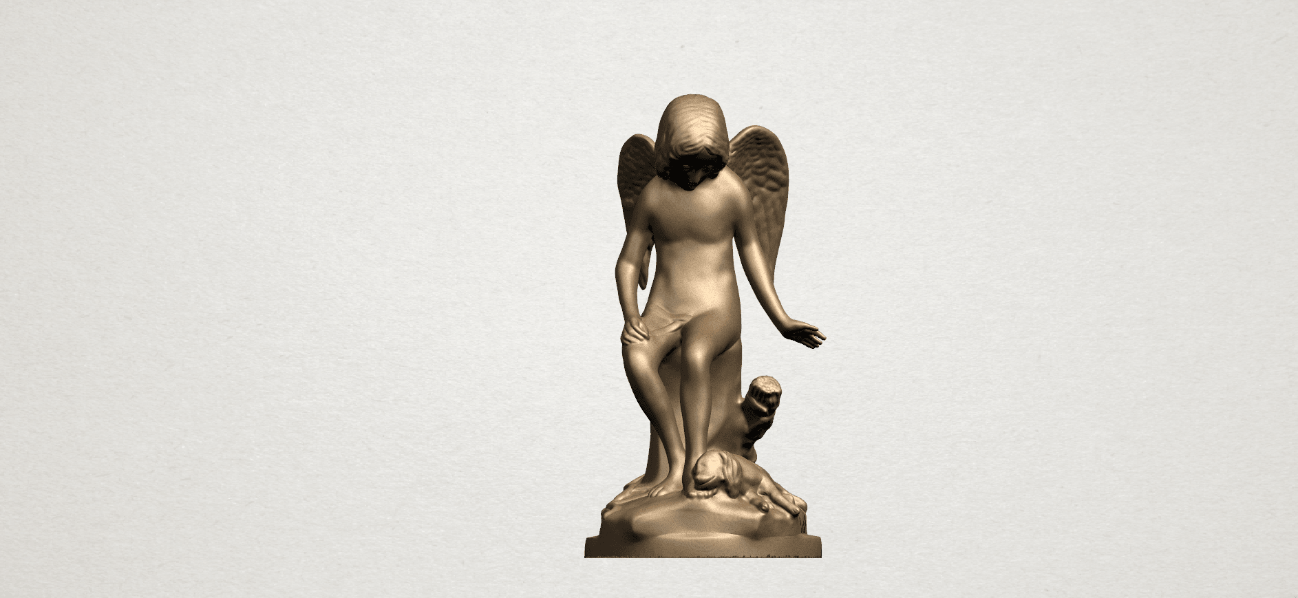 Angel and Dog A01.png Download free STL file Angel and Dog • 3D print model, GeorgesNikkei