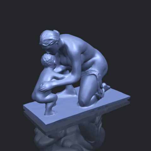 10_Mother-Child_(iv)_90mm_(repaired)B00-1.png Download free STL file Mother and Child 04 • 3D print template, GeorgesNikkei