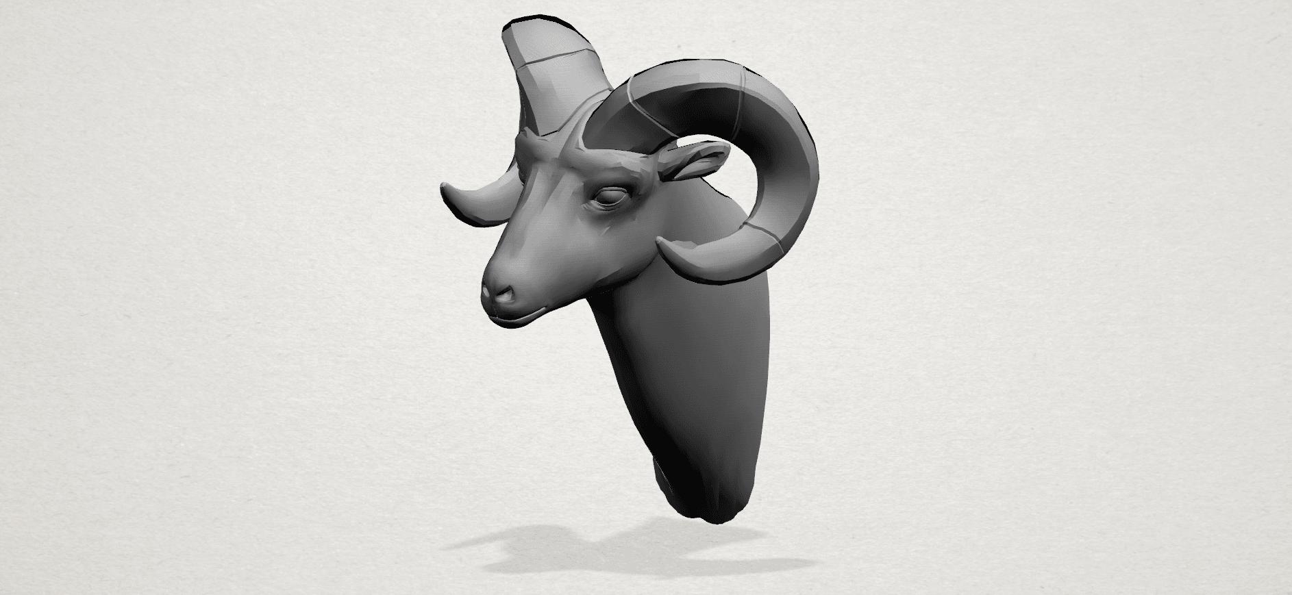 Goat - A01.png Télécharger fichier STL gratuit Chèvre 01 • Design pour impression 3D, GeorgesNikkei