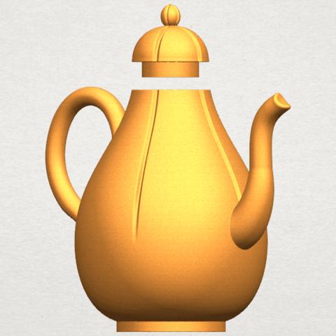 TDA0323 Tea Pot (ii) A04.png Download free STL file Tea Pot 02 • 3D printer template, GeorgesNikkei