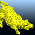 Download free STL files Voronoi Bull, GeorgesNikkei