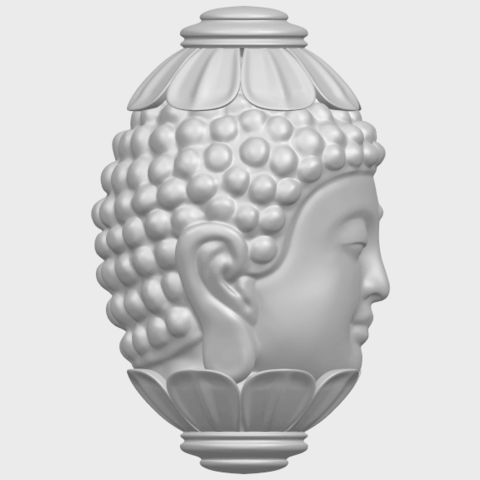 11_Buddha_Head_Sculpture_80mmA09.png Download free STL file Buddha - Head Sculpture • 3D printing model, GeorgesNikkei