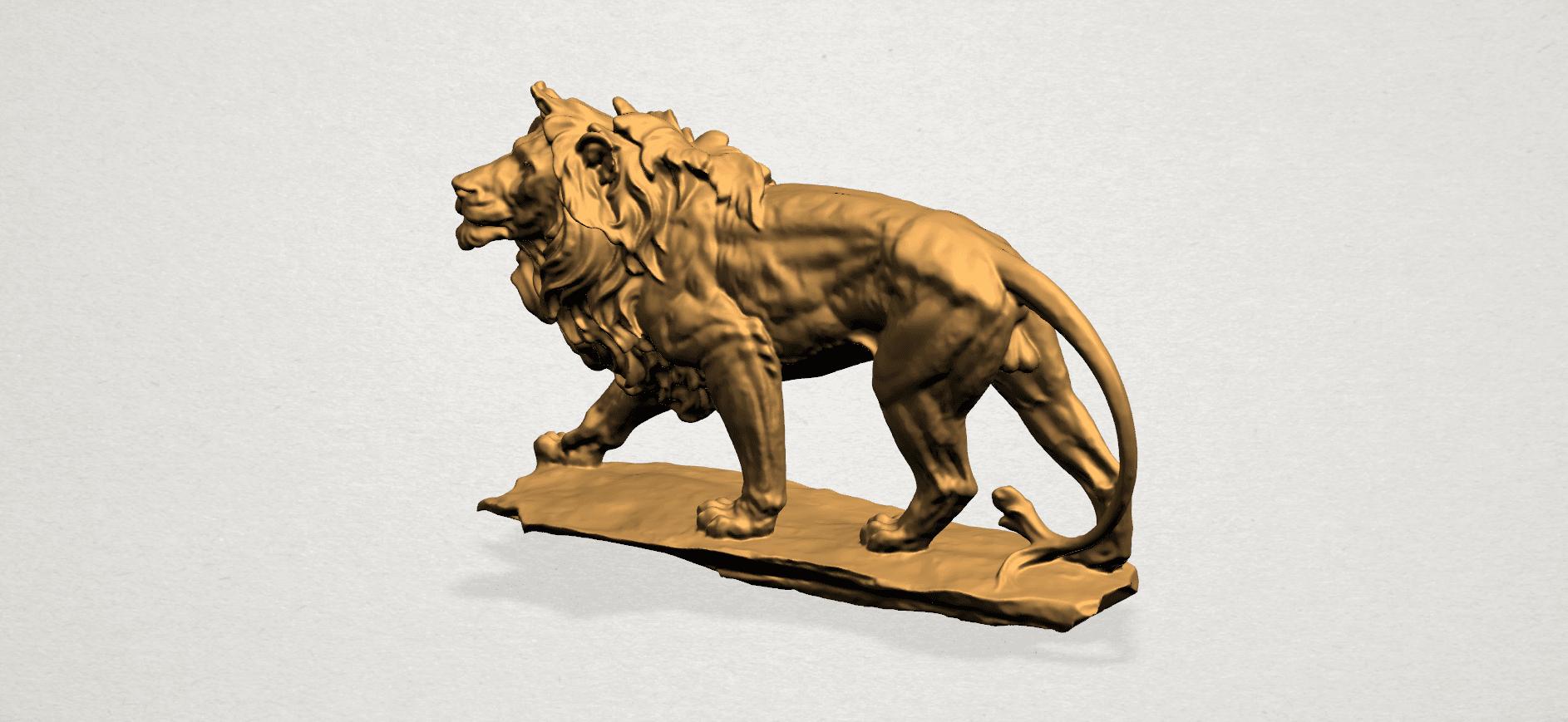 Lion (ii) -50mm-A03.png Télécharger fichier STL gratuit Lion 02 • Design pour impression 3D, GeorgesNikkei