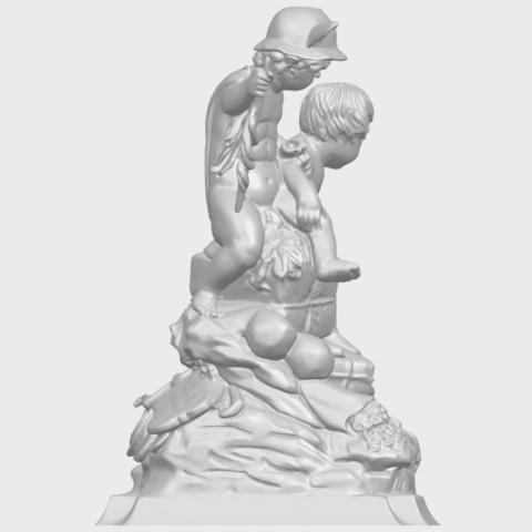 23_TDA0271_Two_kids_iiA09.png Télécharger fichier STL gratuit Deux enfants 02 • Design à imprimer en 3D, GeorgesNikkei