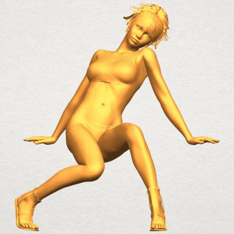 A01.png Download free STL file Naked Girl G03 • 3D print object, GeorgesNikkei