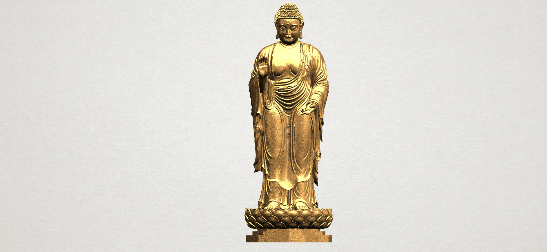 Gautama Buddha Standing (ii) A01.png Download free STL file Gautama Buddha Standing 02 • 3D printer design, GeorgesNikkei