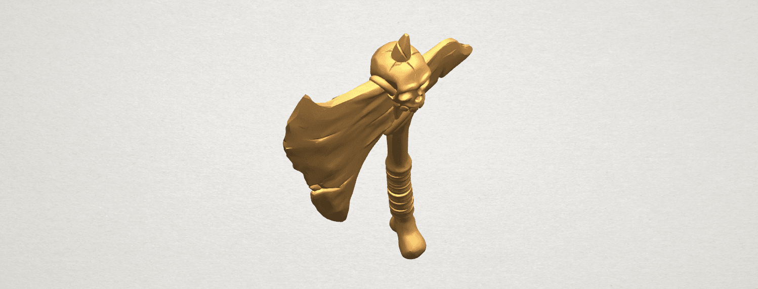 TDA0541 Pirate Axe A08.png Download free STL file Pirate Axe • 3D printer template, GeorgesNikkei