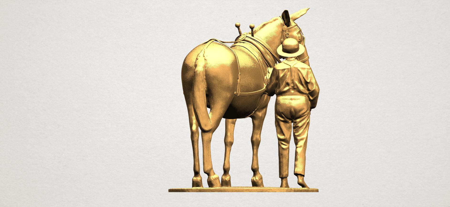Horse with Man (i) - A06.png Télécharger fichier STL gratuit Cheval avec Man 01 • Objet à imprimer en 3D, GeorgesNikkei