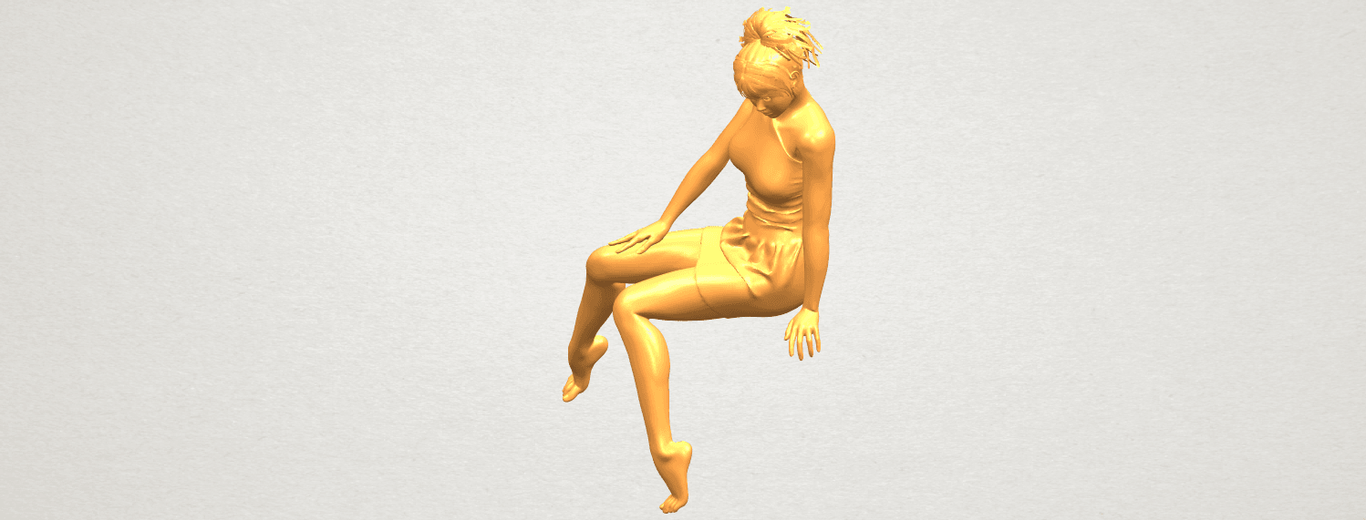 A02.png Download free STL file Naked Girl E05 • 3D print object, GeorgesNikkei