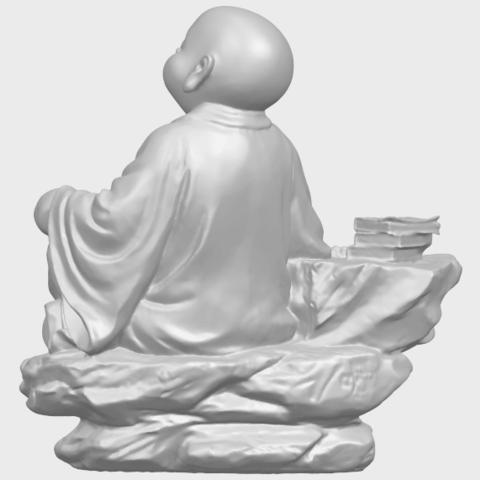 17_TDA0558_Little_Monk_Drink_TeaA06.png Télécharger fichier STL gratuit Boire du thé Little Monk Drink Tea • Design à imprimer en 3D, GeorgesNikkei