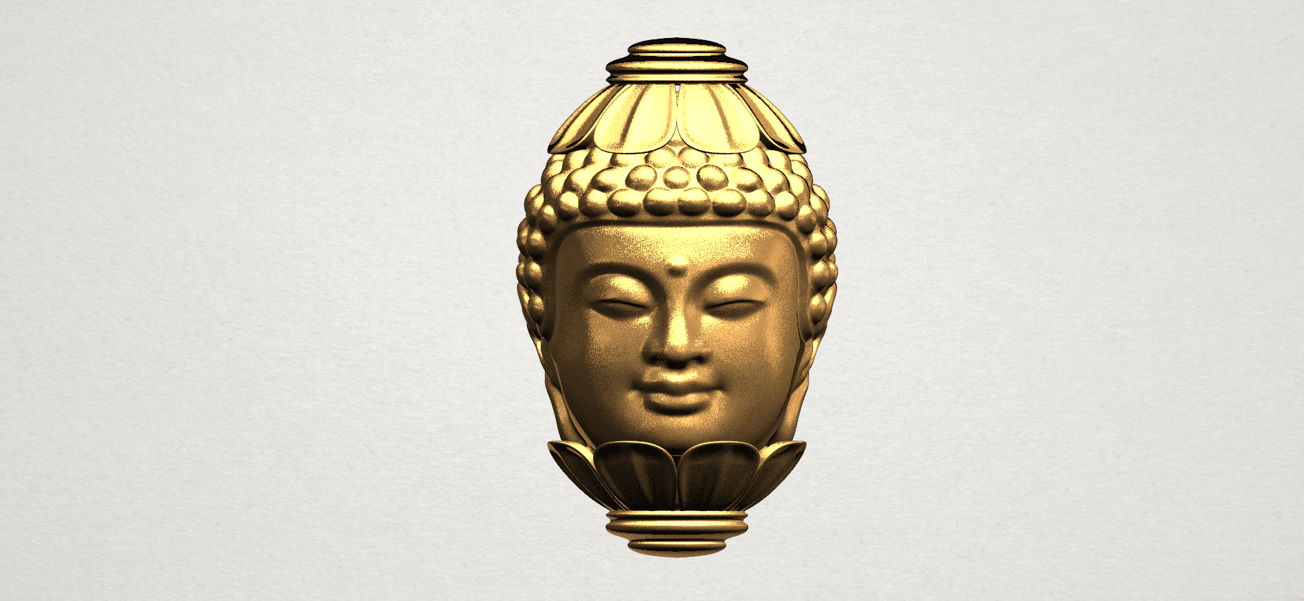 Buddha - Head Sculpture 80mm -A02.png Download free STL file Buddha - Head Sculpture • 3D printing model, GeorgesNikkei