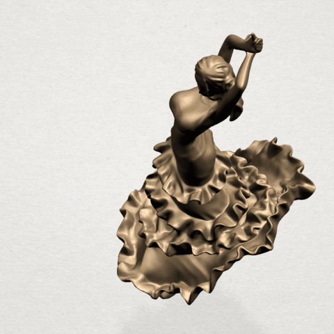Girl with Dress A08.png Download free STL file Girl with Dress • Object to 3D print, GeorgesNikkei