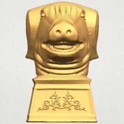 Download free 3D printing templates Chinese Horoscope of Pig 02, GeorgesNikkei