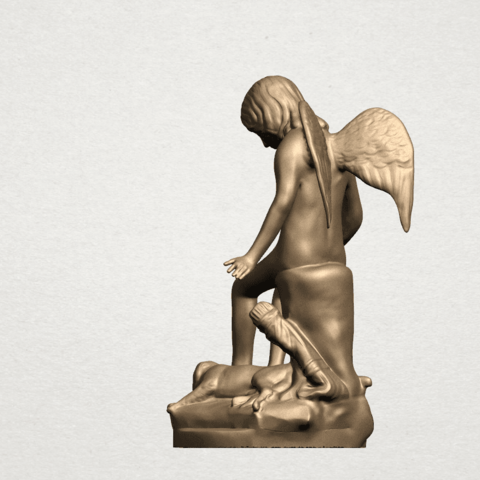 Angel and Dog A03.png Download free STL file Angel and Dog • 3D print model, GeorgesNikkei