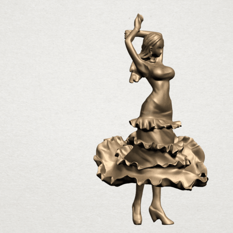 Girl with Dress A06.png Download free STL file Girl with Dress • Object to 3D print, GeorgesNikkei