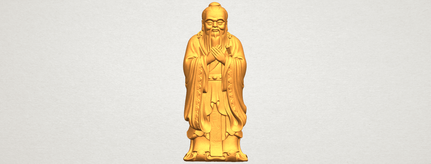 TDA0341 Confucius A01.png Download free STL file Confucius • 3D printable model, GeorgesNikkei