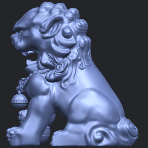 04_TDA0500_Chinese_LionB04.png Download free STL file Chinese Lion • 3D printing object, GeorgesNikkei