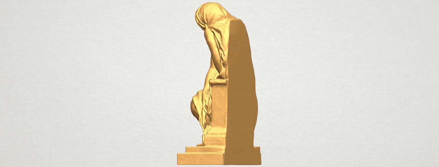 TDA0548 Sculpture of a girl 02 A03.png Download free STL file Sculpture of a girl 02 • 3D printable template, GeorgesNikkei