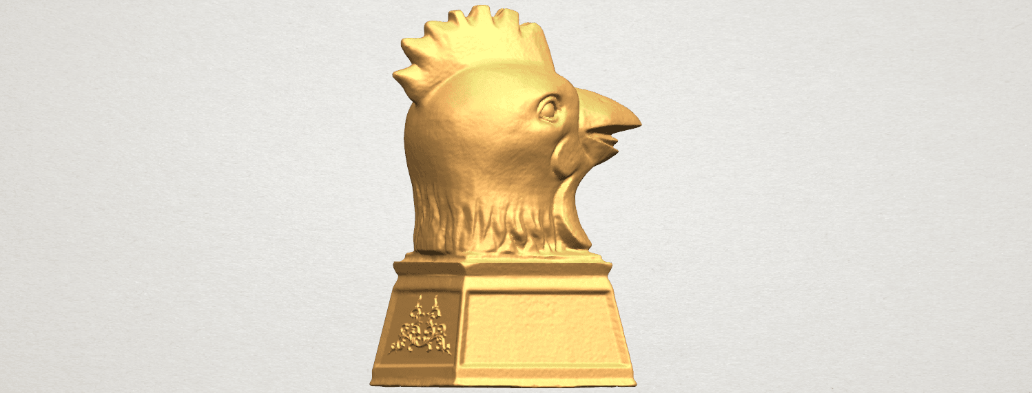 TDA0517 Chinese Horoscope of Rooster 02 A05.png Download free STL file Chinese Horoscope of Rooster 02 • 3D printable object, GeorgesNikkei