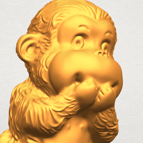 A11.png Download free STL file Monkey A04 • Model to 3D print, GeorgesNikkei