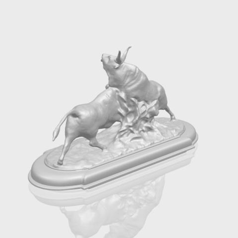 15_Bull_iii_74mm-A00-1.png Télécharger fichier STL gratuit Taureau 03 • Plan imprimable en 3D, GeorgesNikkei