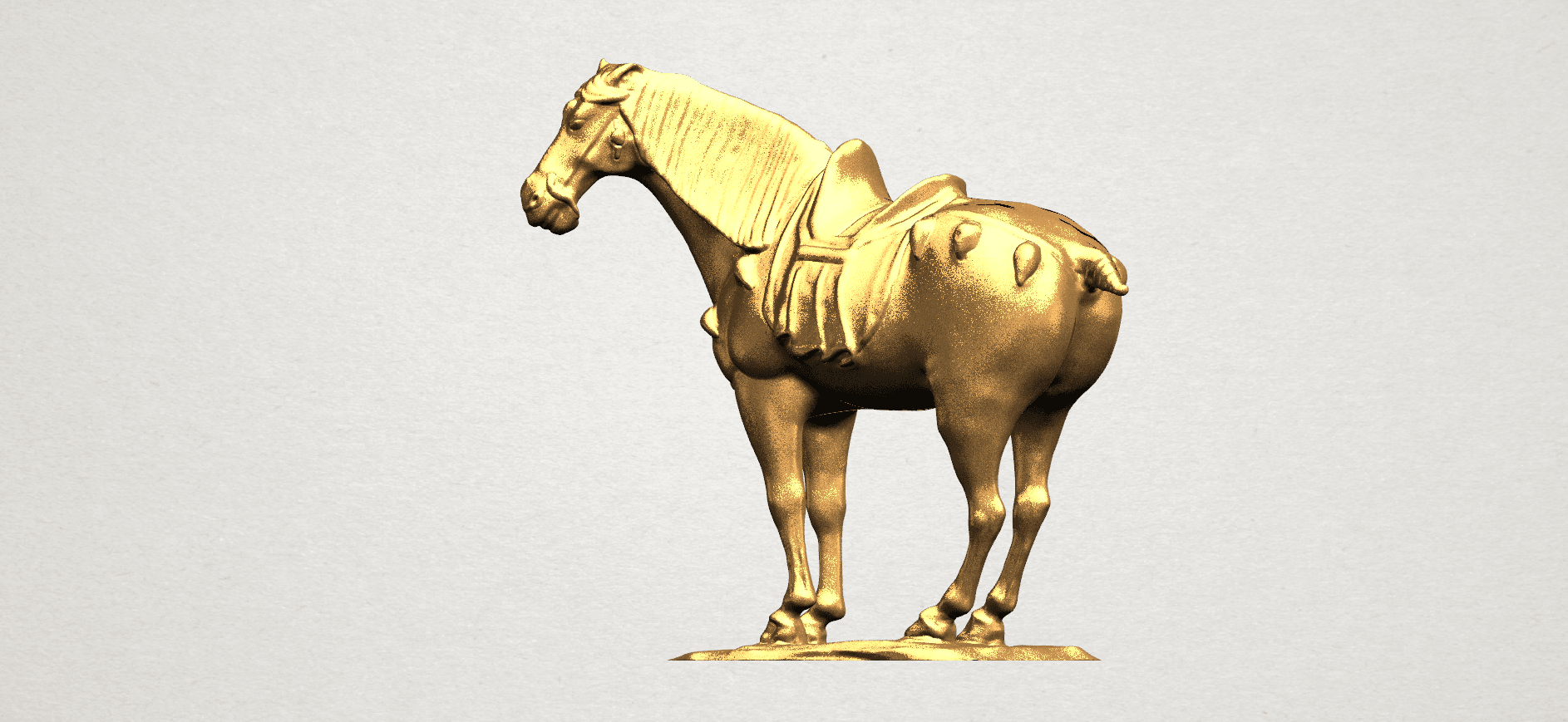 Horse (iv) A02.png Download free STL file Horse 04 • 3D print design, GeorgesNikkei