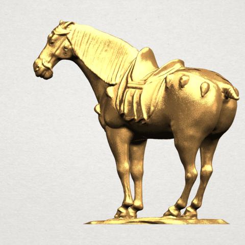 Horse (iv) A02.png Télécharger fichier STL gratuit Cheval 04 • Design à imprimer en 3D, GeorgesNikkei