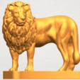 TDA0313 Lion (iii) A07.png Download free STL file Lion 03 • 3D printable template, GeorgesNikkei