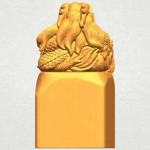 A04.png Télécharger fichier STL gratuit Timbre Dragon 01 • Objet à imprimer en 3D, GeorgesNikkei