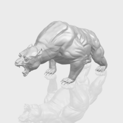 Download free 3D printing models  Bear 02, GeorgesNikkei