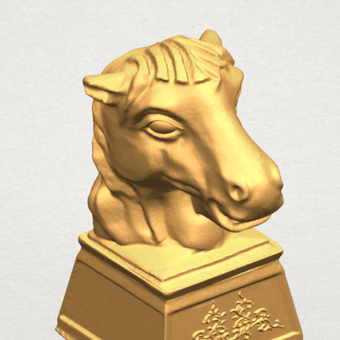 TDA0514 Chinese Horoscope of Horse 02 A07.png Download free STL file Chinese Horoscope of Horse 02 • 3D printer model, GeorgesNikkei