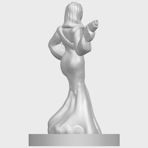 12_TDA0160_Beautiful_Anime_Girls_05_-_88mmA08.png Download free STL file Beautiful Anime Girl 05 • Template to 3D print, GeorgesNikkei