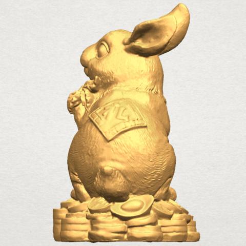 TDA0559 Rabbit 02 A03.png Télécharger fichier STL gratuit Lapin 02 • Design imprimable en 3D, GeorgesNikkei