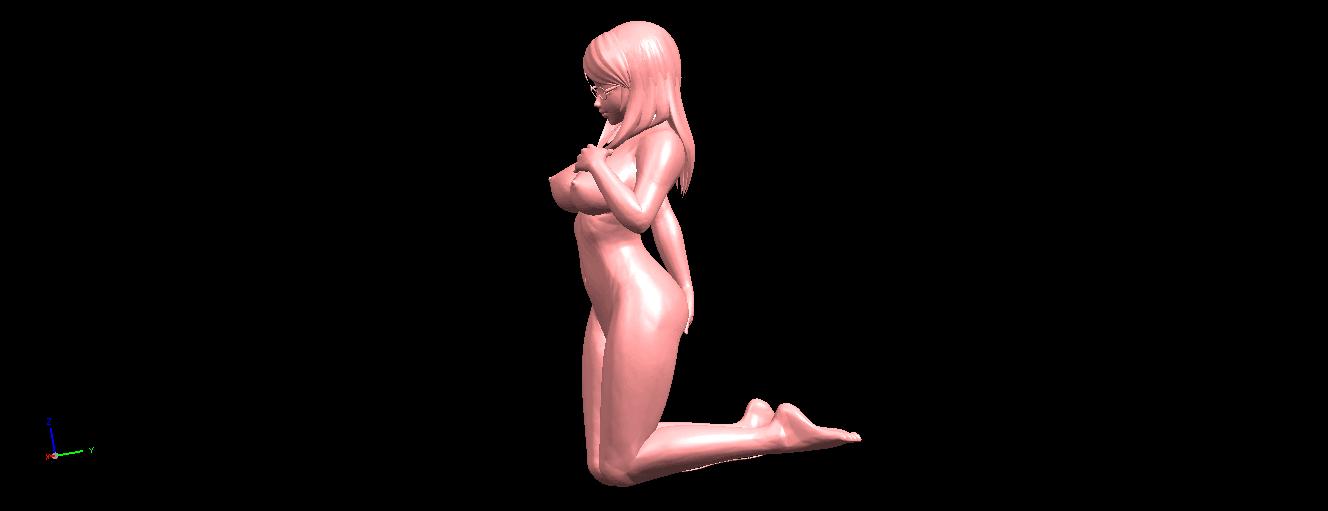 03.png Download free STL file Naked Girl - Bended Knees 01 • 3D printable model, GeorgesNikkei