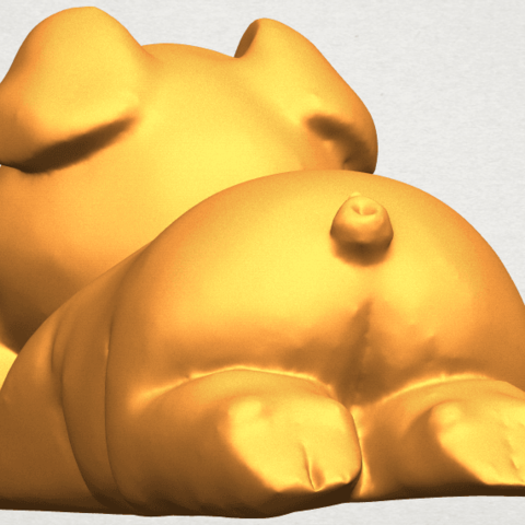 A03.png Download free STL file Pig 01 • 3D printing object, GeorgesNikkei
